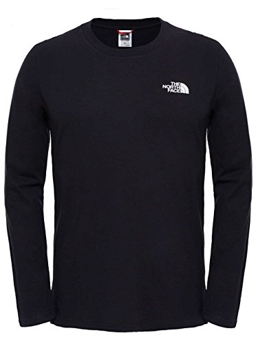 The North Face Herren M L/S Easy Tee Langärmeliges T-Shirt tnf black