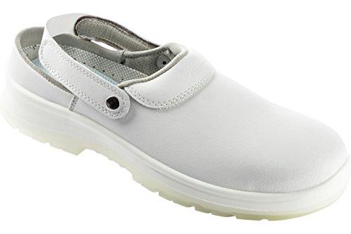 Base SB Flexitec Clog - Schuhe EN ISO 20345 mit Zehenschutz SB - Arbeitsschuhe SB mit offenem Fersenebreich Weiß