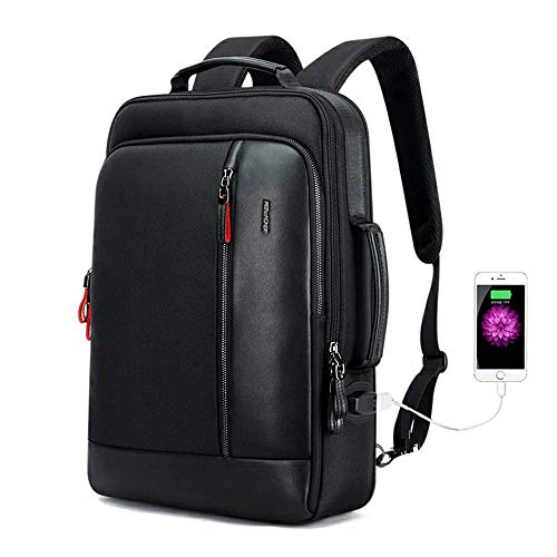 Bopai zaino antifurto intelligente e zaino per laptop portatile 15.6 pollici impermeabile con ricarica usb zaino college casual viaggio bussiness, nero