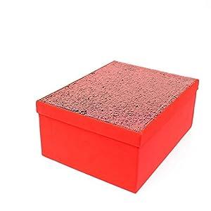 Gifts 4 All Occasions Limited SHATCHI-1301 Shatchi - Cajas de almacenamiento con tapa para decoración del hogar, regalos de Navidad, suministros para fiestas 11686, multicolor