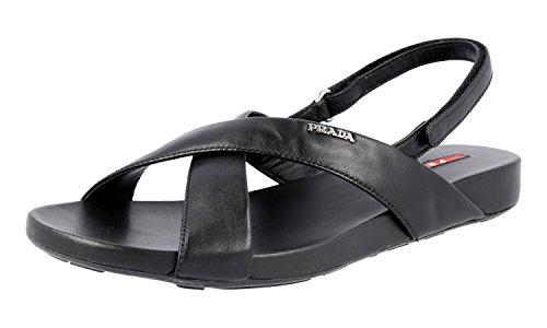 Prada 3X5704 O0Q F0002, Damen Sandalen, Schwarz - schwarz - Größe: 39 EU