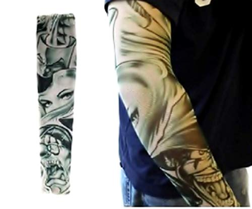 "Inception Pro Infinite W26 - Modell T26 - Tattoo Sleeve - Tragbar - Sleeve - Fake Tattoo - Bild - Frauen - Maleficent Clown - Tatoo - Halbe Ã""rmel - Tribal"