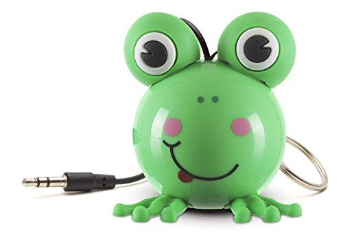 KitSound Mini Buddy Haut-Parleur Universel avec Prise Jack 3.5mm Compatible avec les Smartphones- Tablettes et MP3 - Grenouille
