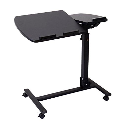 IglobalbuyBeweglicher justierbarer beweglicher faltender Laptop-Computer-Schreibtisch-Tabellen-Wagen-Standplatz-Behälter auf Rädern für Sofabett (Gaming-stuhl Mit Sockel)