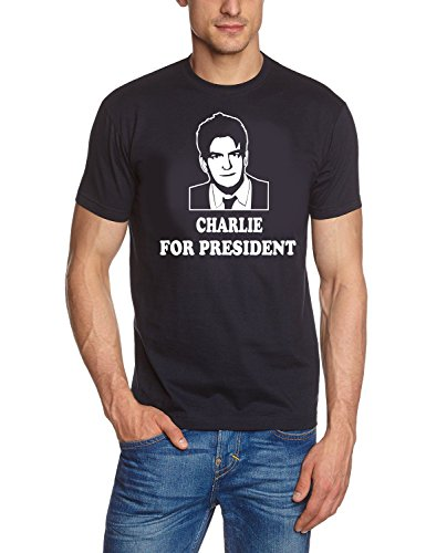 coole-fun-t-shirts-t-shirt-charlie-for-president-two-and-a-half-men-mein-cooler-onkel-charlie-prenda