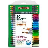 Alpino AR000058 - Estuche de 20 rotuladores, colores surtidos