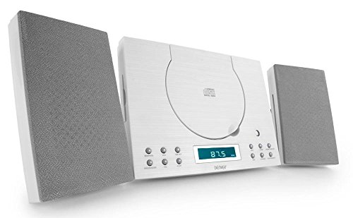 Denver  MC-5010 Musik-Center (CD-R/RW, AUX-In, Wandhalterung, Weckerradio) weiß