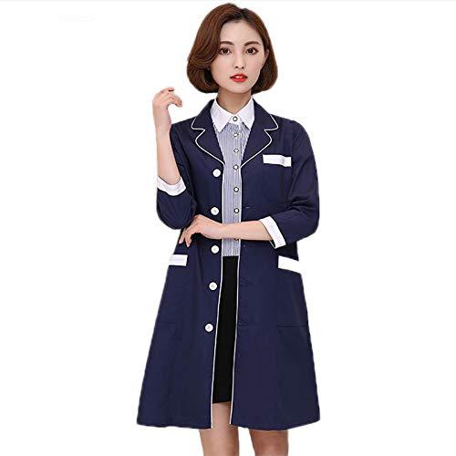ESENHUANG Medizinische Roben Laborkittel Krankenhaus Männer Und Frauen Arbeit Kleid Beauty Salon Uniform Apotheke Kleidung