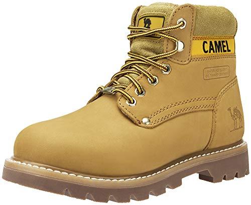 CAMEL CROWN 6 inch Stivali da Lavoro per Uomo Donne Stivali Classici di Non-Sicurezza Scarponi Casual Non-Antinfortunistica Invernali Impermeabili Pelle Scarpe caffè Nero Giallo 37-46