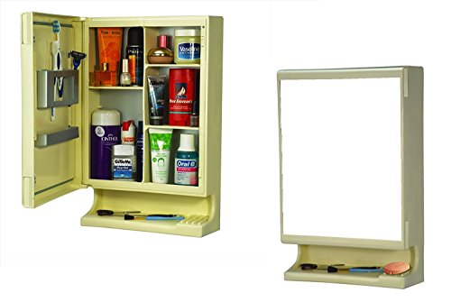 PAffy New Look Bathroom Cabinet with Mirror - Ivory + 1 Year Warranty