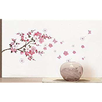 Large Size Butterfly Cherry Blossom Flower Tree Branch Removable Wall  Sticker Decals Decor Art Mural Home Decor Stickers Part 75