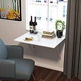 Homfa Wandtisch klappbar 80x60cm weiß mit 2 H...Vergleich