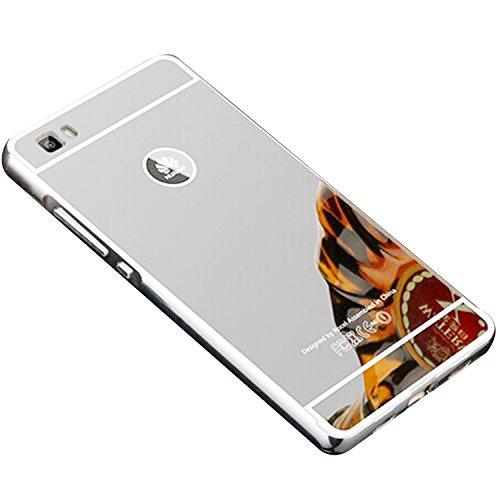 COOSA caso para Huawei P8 Lite, Nueva lujo ultrafino del metal de aluminio Espejo PC de nuevo caso de la cubierta 5.0 pulgadas