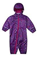 Mountain Warehouse Puddle Kids Printed Waterproof Rain Suit Purple 12-18 months