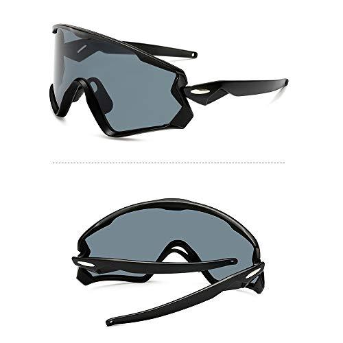 NAN® Sport Sonnenbrillen Outdoor-Männer Und Frauen Polarisierten Sport Sonnenbrillen Jugend Angeln Baseball Bike Laufen Fahren Golf Motorrad Brille,Black