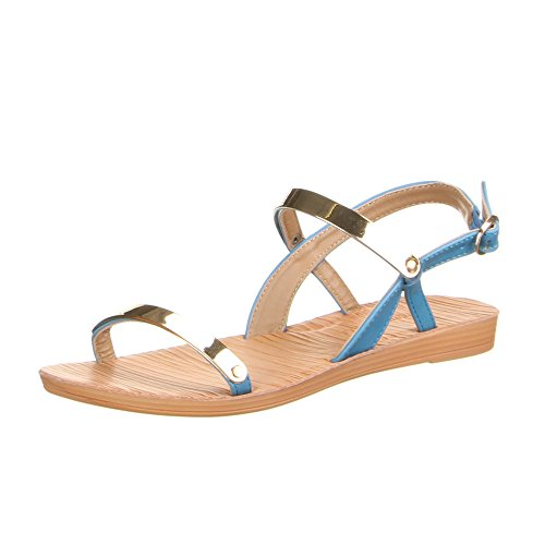 Ital-design - Chaussures À Bride À La Cheville Femme Bleu (bleu Clair)