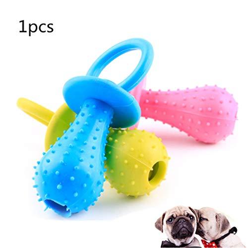 MagiDeal 1 Stück Haustier Kauen Spielzeug Ungiftig Gummi Hund Hundewelpe Reinigung Zähne Sound Chew Ausbildung Interaktives Spielzeug Farbe Zufällig von SamGreatWorld -