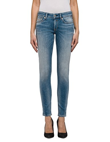 Replay Damen Skinny Jeans Luz, Blau (Light Blue Denim 10), W27/L30 (Herstellergröße: 27) (Leg-jeans Low-rise-skinny)