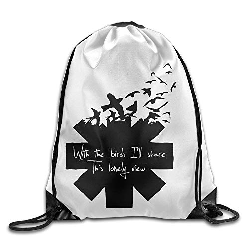 HLKPE Red Hot Chili Peppers Gym Drawstring Bags Backpack