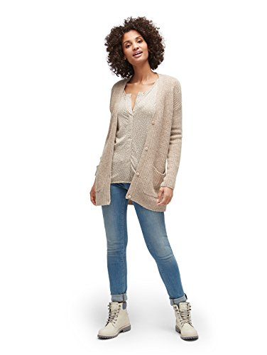 TOM TAILOR Damen Jeans Slim Carrie Double Button light stone wash denim