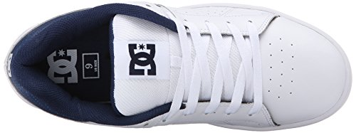 DC Men's Wage Skate Shoe, Black, 11 M US Blanc/bleu marine