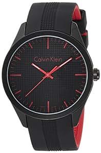 Calvin Klein Montre à quartz k5e51tb1Unisexe avec Bracelet en Caoutchouc