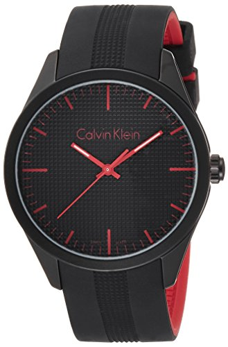 Calvin Klein Unisex Quartz Watch K5E51TB1 with Rubber Strap
