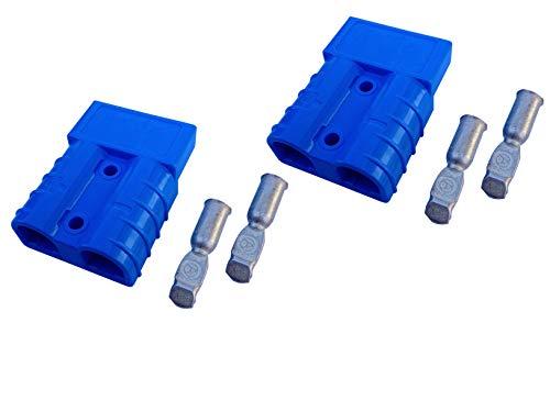 Batterie Stecker 50A 10 mm2 blau Set Steckverbinder für Gabelstapler Kabel 50a Kabel