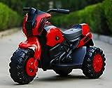DDCX Coche eléctrico de Juguete eléctrico para bebés BMW Motocicleta eléctrica de Tres Ruedas para bebés Grandes,Red