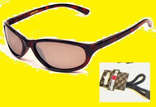 e6e6d43f2b Foster Grant Style Wayfarer Lunettes de soleil polarisées Motif tortue avec  sangle pour lunettes en forme