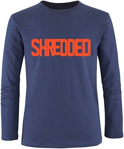 EZYshirt® Shredded Herren Longsleeve Navy/Orange