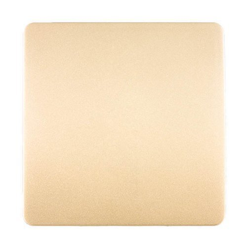Blanking Plate (Trendi Artistic Modern glänzend Taktile Single Blanking Plate Gold Art-blkgo)