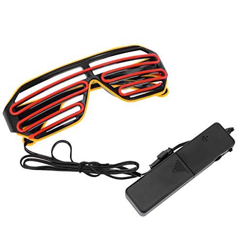 Toyvian Glow Sunglass LED Voice Contro Luminous Eyeglasses Flash Toys for Party Photo Props No Battery