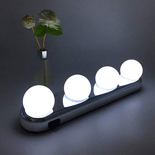 WLAY Vanidad De Maquillaje Light Make Up Light Sin Cable Luz Natural  Portátil con Ventosas Potentes Ideal para El Baño del Dormitorio