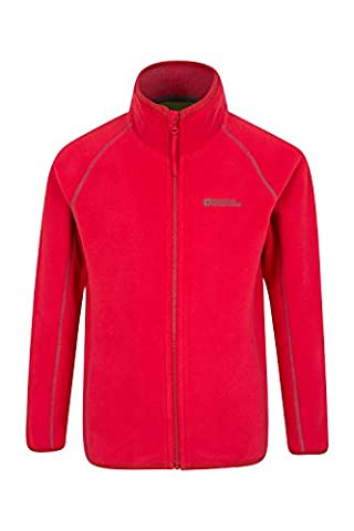 Mountain Warehouse Rascal Kids Microfleece Jacket - Lightweight, Quick Drying, Anti-Pill Fabric with Easy to Care - Ideal for Layering & Ideal for Busy Kids Red 5-6 years