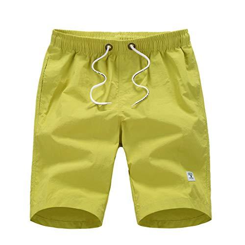 e26ce80309272 Manadlian Maillot de Bain Hommes Casual Pantalon de Sport Séchage Rapide  Short de Bain Couleur Unie