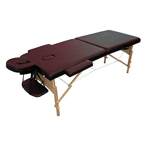 Preisvergleich Produktbild SAILUN® tragbare Massageliege Profi Kosmetikliege,  4cm Feinzell-schaumstoff,  Vollholzgestell,  2 Zonen,  186 * 70 cm,  Sattelbraun