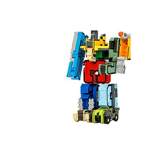 JingYuan 0-9 di deformazione robottino Bambini Puzzle Prima educazione elementari del Giocattolo Toy Early Learning Robot Numero Transform Robot Giocattolo per i Bambini
