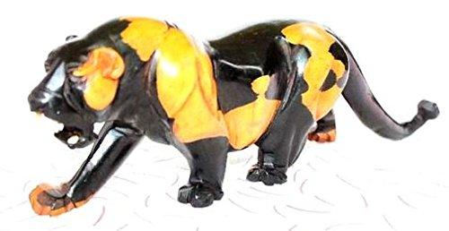 Africa art decoration–tigre bicolore in legno ebano 5730-s4y-579