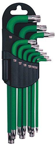 Ampro T22985 Clés Males Magnétiques Torx, Set de 9