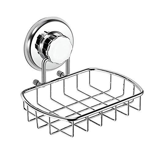 ZTKBG Saugnapf-Halter für Vakuum-Becher, Seifenschwammhalter für Badewanne, Bad, Badewanne und Spülbecken - rostfreier Edelstahl -