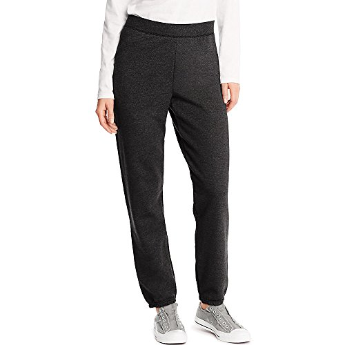 Hanes ComfortSoft™ EcoSmart Women's Cinch Leg Sweatpants_Ebony_S