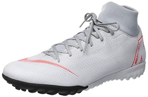 Nike Herren Mercurial SuperflyX VI Academy TF Fußballschuhe, grau/rot, 43 EU - Männer Turf Für Nike Schuhe