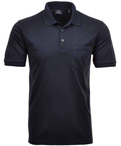 RAGMAN Herren RAGMAN Kurzarm Softknit Poloshirt Medium, Marine (Polo-hüte Blau)