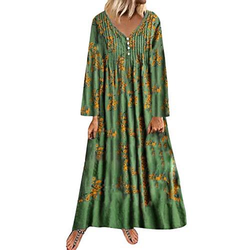 LEXUPE Neckholder 50er Vintage Rockabilly Kleid Vokuhila Petticoat Hochzeit Cocktail Abendkleid(Grün,Medium) (Bulma Kostüm Zubehör)