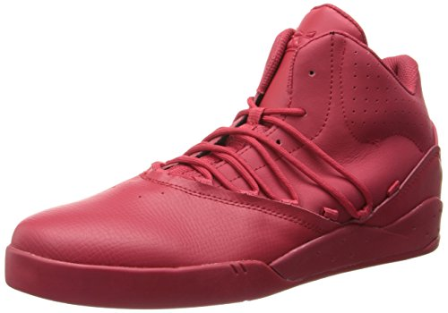Supra ESTABAN, Sneaker donna Grigio grigio, Rosso (Rot (RED/RED - RED   RED)), 47.5 EU (12 Erwachsene UK)