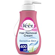 Veet Hair Removal Cream for Sensitive Skin, 400 ml