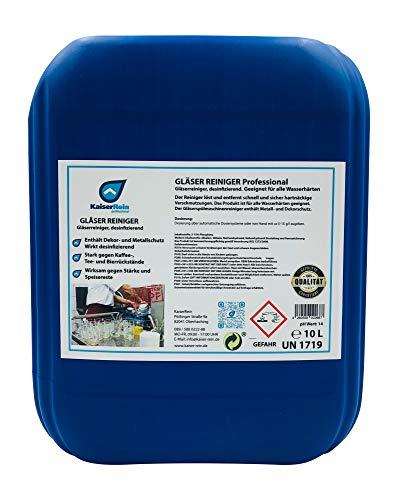 KaiserRein Klarspüler Geschirrspüler Gläserreiniger Gläserspülmittel Klarspüler für gewerbliche Spülmaschinen desinfizierend 12 kg Kanister Chlorfrei
