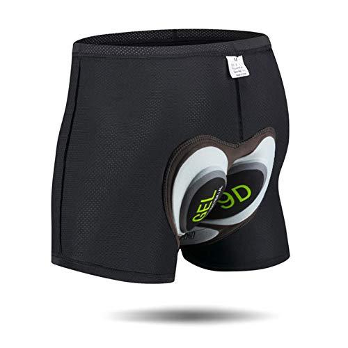 Toptetn pantaloncini da ciclismo in bicicletta imbottiti 3d leggeri e traspiranti per uomo e donna (gray, m)