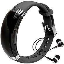 Espía Grabadora de voz–pulsera de xiaokoa 8GB Grabadora de voz digital MP3y reproductor de música voz activa batería reducción de ruido para presentaciones reuniones entrevistas clase deportes conferencias